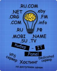 Зарегистрировать доменное имя, заказать хостинг, VPS сервер и Dedicated Server